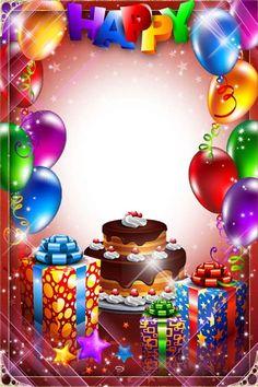 Birthday Card With Photo, Birthday Photo Frame, Happy Birthday Frame, Happy Birthday Wallpaper, Happy Birthday Video, Happy Birthday Flower, Birthday Frames, Birthday Collage, Free Birthday