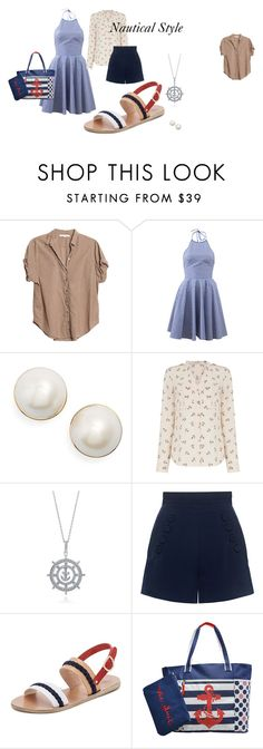"""""""Nautical Looks"""" by allisonrebeccalange on Polyvore featuring Xirena, Michael Kors, Kate Spade, Oasis, BERRICLE, Finders Keepers, Ancient Greek Sandals and Adrienne Vittadini"""