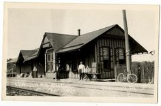 Cornwall Railroad Station Post Office PA Vintage RPPC Photo Postcard Dog Bicycle | eBay