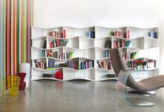 wave bookcase