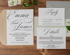 Printable Wedding Invitation // Wedding by TheSundaeCreative