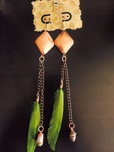 aaseagypsy jewels; festival feather earrings;
