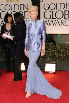Tilda Swinton at the Golden Globes Photo 1