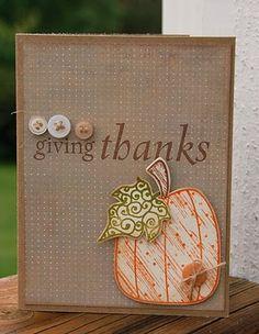 Pumpkin - Give Thanks card