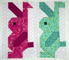 rabbit quilt block pattern ...