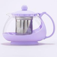Lavender Glass Infuser Teapot