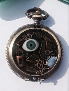 RESINation Jewelry blog: Goosebumps inspired pocketwatch!