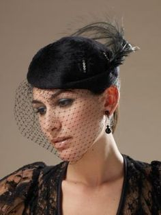 How to Make Black Wedding Cage Veil Hats