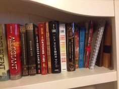 Here is part 3 of my SHELF-ie!!  NOTE: THESE ARE NOT ALL OF THE BOOKS IVE READ! MOST ARE BORROWED, TO OLD TO USE, OR ON MY KINDLE!!! And 2 of these books I haven't read because they are gifts for some one!