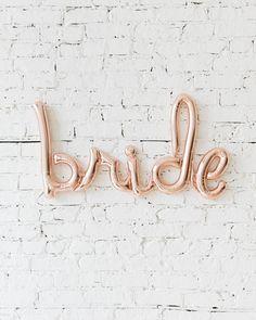 33in Rose Gold Bride Script — Paris312 Elegant Bridal Shower, Rose Gold, Bride, Wedding Bride, The Bride, Bridal, Brides