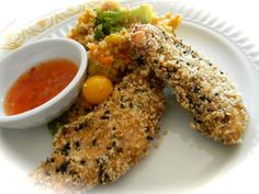 ... Creek Cottage: Recipe Review of Sesame Encrusted Baked Chicken Tenders
