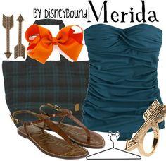 Merida by Disney Bound Fashion Disney Outfit Brave, beach, bikini Disney Dress Up, Disney Clothes, Disney Inspired Fashion, Disney Fashion, Estilo Disney, Character Inspired Outfits, Disney Bound Outfits, Dapper Day, Themed Outfits