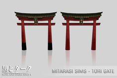 TS4 - Mitarasi Sims - Set Part 1 ~ Noir and Dark Sims