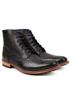 SEALLS | Brogue ankle boot - Black | Footwear | Ted Baker