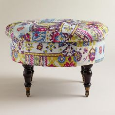 One of my favorite discoveries at WorldMarket.com: Round Istanbul Lucille Ottoman