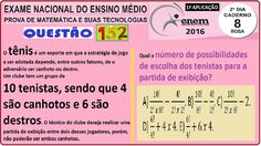 CURSO MATEMÁTICA ENEM 2016 QUESTÃO 152 PROVA ROSA RESOLVIDA EXAME NACION... https://youtu.be/n8y5hJwjYNk