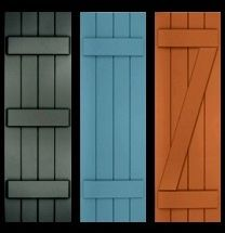 Board And Batten Shutters | Classic Shutter Collection - Primed, Exterior Composite Wood Shutters