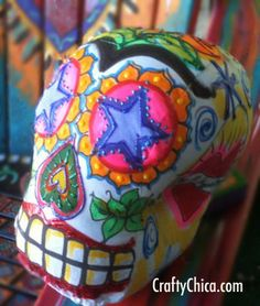 Diary of a Crafty Chica: DIA DE LOS MUERTOS CRAFT: Soft Sculpture Skull