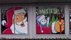 Part of the 2016 Merry Christmas Splash at Beaverton Auto Body & Paint Christmas Window Decorations, Christmas Door, Christmas 2016, Merry Christmas, Christmas Windows, Window Art, Window Ideas, Painting On Glass Windows, Christmas Clipart