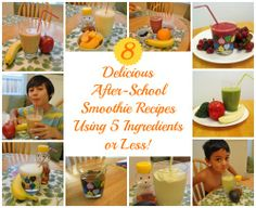 #Ad: 8 Delicious After-School Smoothies with 5 Ingredients or Less