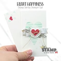 nice people STAMP! - Stampin' Up! Canada: Heart Happiness Card & DIY Doilies w/ VIDEO