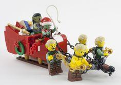 Traineau de #noël des orcs #lego #elfe
