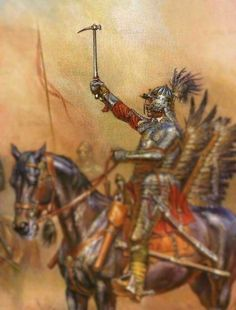 Winged Hussar with Warhammer. (detail from https://s-media-cache-ak0.pinimg.com/originals/b3/1a/2e/b31a2e5c2ead5eb43e1fddd47ac90498.jpg)