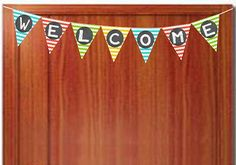 Chevron Teacher Welcome Banner- FREE Printbale