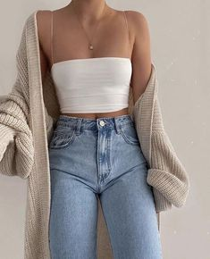 Cute Casual Outfits, Simple Outfits, Pretty Outfits, Stylish Outfits, Teen Fashion Outfits, Look Fashion, Fall Outfits, Summer Outfits, Vetement Fashion