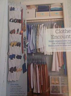Small closet organized