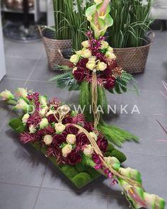 Grave Decorations, Funeral, Flower Arrangements, Floral Wreath, Jar, Wreaths, Flowers, Plants, Home Decor
