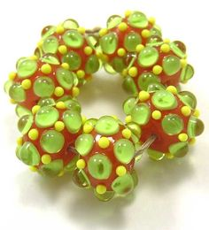EDJ  Citrus Grove Handmade Glass Lampwork Beads SRA by EDJlampwork, $24.99