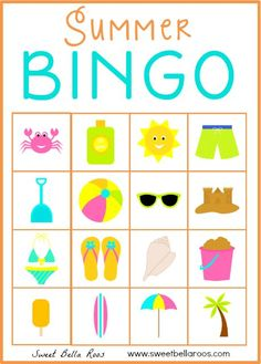 How can you keep Bingo games fun and interesting at your senior facility? Try these three ideas to keep you and your residents interested in a game. From the basics to advanced, you'll find everything bingo here. Bingo Games For Kids, Free Printable Bingo Cards, Printable Party, Free Printables, Summer Activities, Preschool Activities, Physical Activities, Summer Preschool Themes, Dementia Activities
