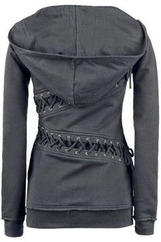 Trendy Hooded Long Sleeve Lace-Up Solid Color Women's Hoodie - Pepino Fashionista Vogue Fashion, Look Fashion, Winter Fashion, Womens Fashion, Fashion Sale, Fashion Online, Fashion Trends, Diy Vetement, Vintage Hipster