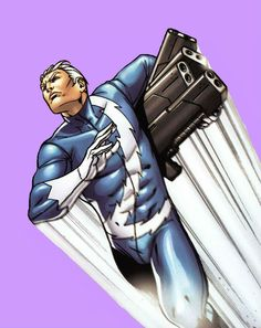 Quicksilver; I know how he is, but, despite his flaws, he's seriously my favorite.