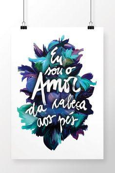Poster Amor da Cabeça aos Pés