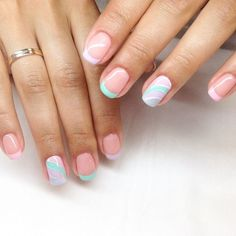 To get you ready for Summer we makes for you a stunning selection of summer nail designs ail designs 2017 spring and summer nails acrylic. Nail Designs 2017, Nail Polish Designs, Cute Nail Designs, Summer Nails 2018, Nail Summer, Work Nails, Striped Nails, Nagel Gel, Artificial Nails