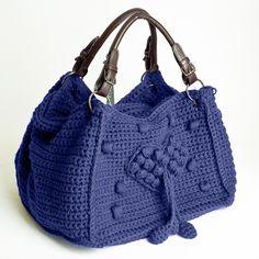 Фиолетовая сумка Love / Отвязные вязаные сумки от Paolo Cane – тренд зимнего сезона 2013, от 245 грн / Акции
