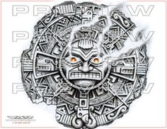 mayan sun god tattoo images galleries with a bite. Black Bedroom Furniture Sets. Home Design Ideas