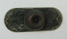 Antique Doorbell Vintage Metal Push Button Salvage by willowpaige, $18.00