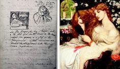 Dante Gabriel Rossetti: La Pia de' Tolomei (design) 1868 & Lady Lilith 1868 #PreRaphaelite