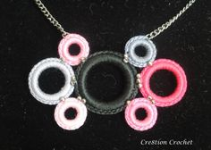 free tutorial crochet ring necklace
