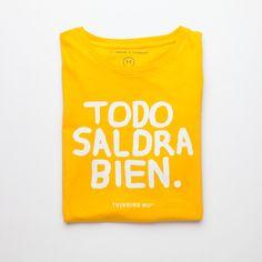 Todo saldrá bien #Fashion #ThinkingMU #Woman #Clothes #Smile #Yellow #Shirt #Good #Smile #Camiseta #Love #Lovely  #Alright #Positivism #Optimism #Optimismo #Positividad #Sonrisa #Sol #Verano #Summer