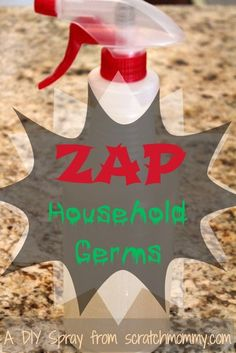 DIY Zap Household Germs (& make the whole house smell UhMaaaZing) #cleaner #spray