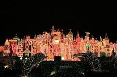 Christmas At Disneyland - its a small world 350,000 lights. My most favorite place at Christmas.