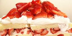 strawberry shortcake made with an angel cake. yummy! :)