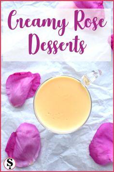 Creamy rose desserts