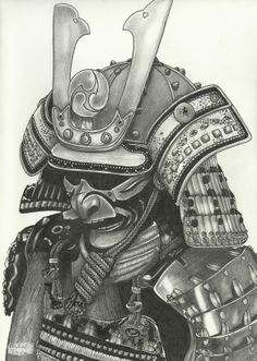 samurai Japanese Tattoo Art, Japanese Dragon Tattoos, Japanese Tattoo Designs, Kabuto Samurai, Ronin Samurai, Body Art Tattoos, Sleeve Tattoos, Samourai Tattoo, Samurai Warrior Tattoo
