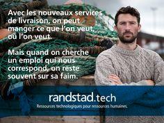 Aujourd'hui, à travers la technologie Randstad Bigdata, les plateformes Randstad Direct et Recrut'live, Randstad s'attache à faire évoluer la recherche d'emploi et toute la physionomie des ressources humaines. Pour les faire progresser. Hui, Live, Job Search, Human Resources, I Want You, Technology