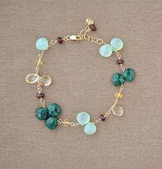 Gemstone bracelet - Pulsera de piedras #DIY #IDEA
